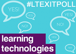 Learning technologies exit poll header